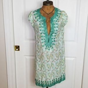 Calypso Saint Barth Cap Sleeve Paisley Dress!